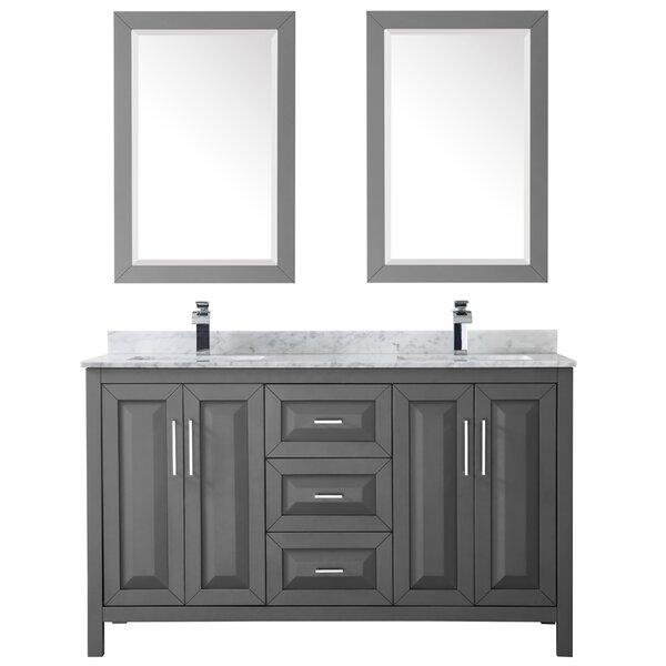 Daria 60 Double Bathroom Vanity Set with Mirror