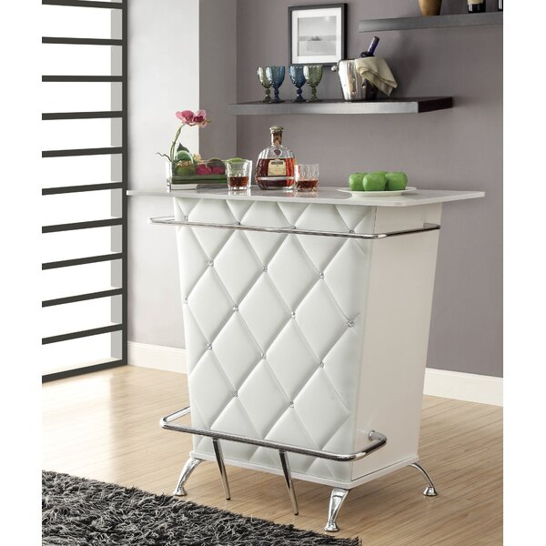 Reeves Tufted Bar with Wine Storage by Everly Quinn Everly Quinn