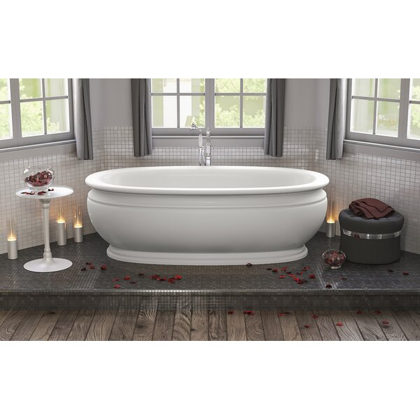 Olympian by Savio Vintage 70.75 L x 37.5 Freestanding Soaking Bathtub by Aquatica