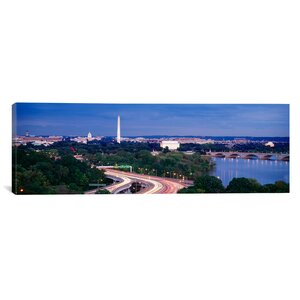 'High Angle View of a Cityscape, Washington DC' Photographic Print on Canvas by East Urban Home