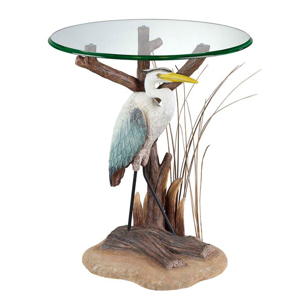 Zahara Heron End Table by Highland Dunes