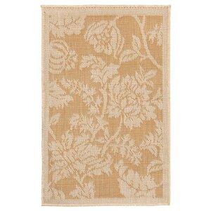 Brasstown Floral Almond/Camel Indoor/Outdoor Area Rug