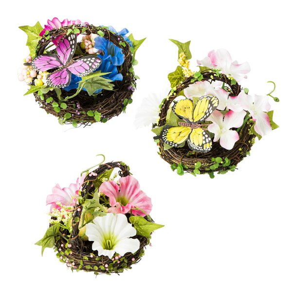 3 Piece Spring Floral Mini Tree Topper by August Grove