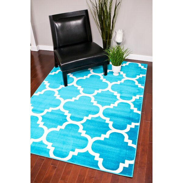 Turquoise Indoor/Outdoor Area Rug by Persian-rugs