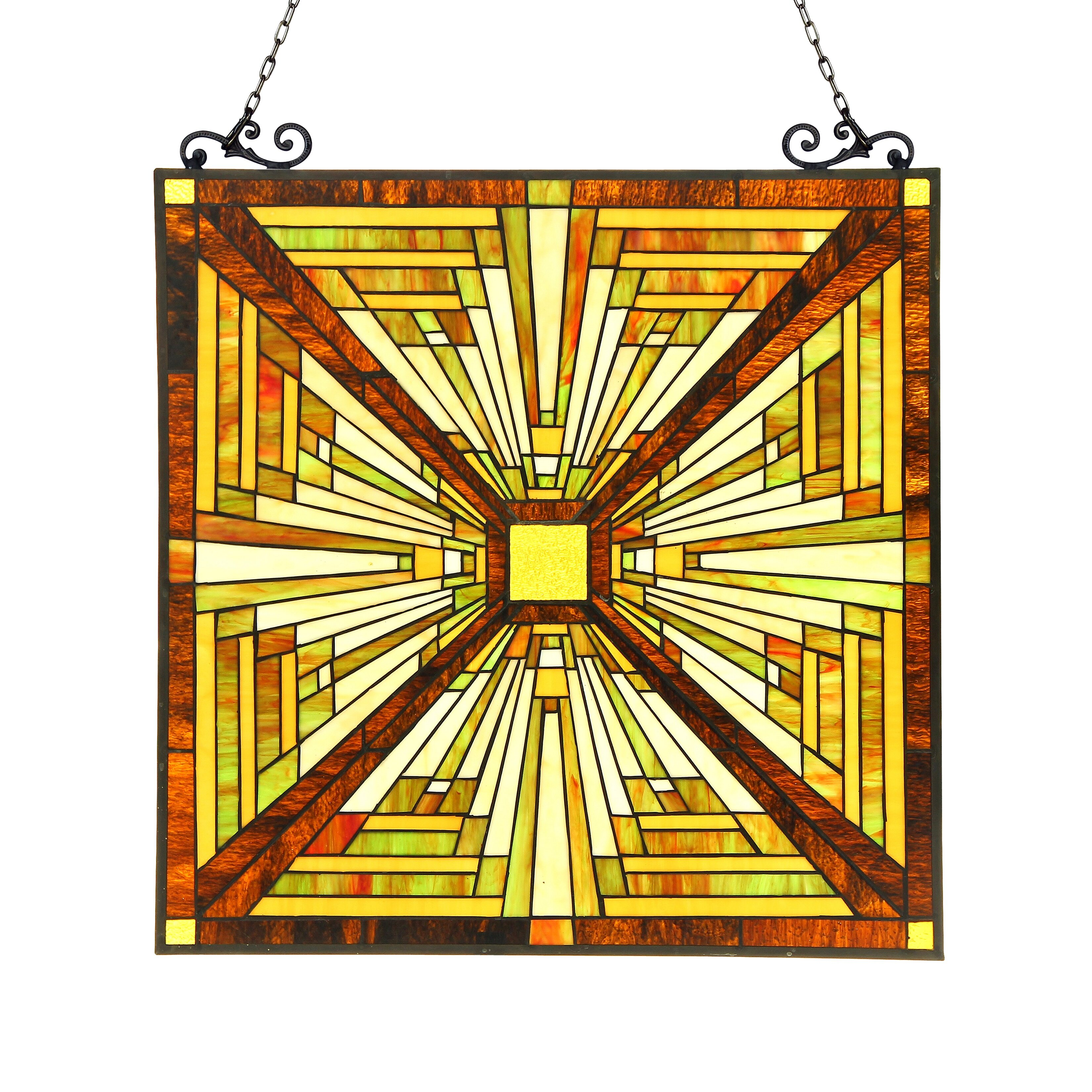 Astoria Grand Fused Paint Glass Window Panel | Wayfair