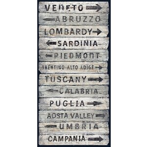 'Italian Wine Regions II' Textual Art on Wrapped Canvas by Fleur De Lis Living