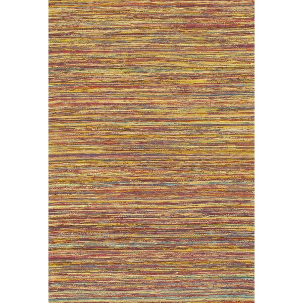 Modern Flat Hand-Knotted Sari Silk Brown Area Rug by Pasargad NY