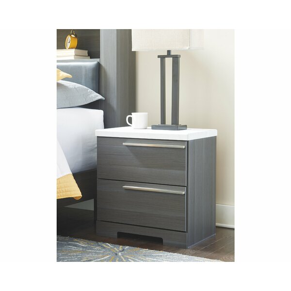 Halstead 2 Drawer Nightstand By Orren Ellis Wonderful