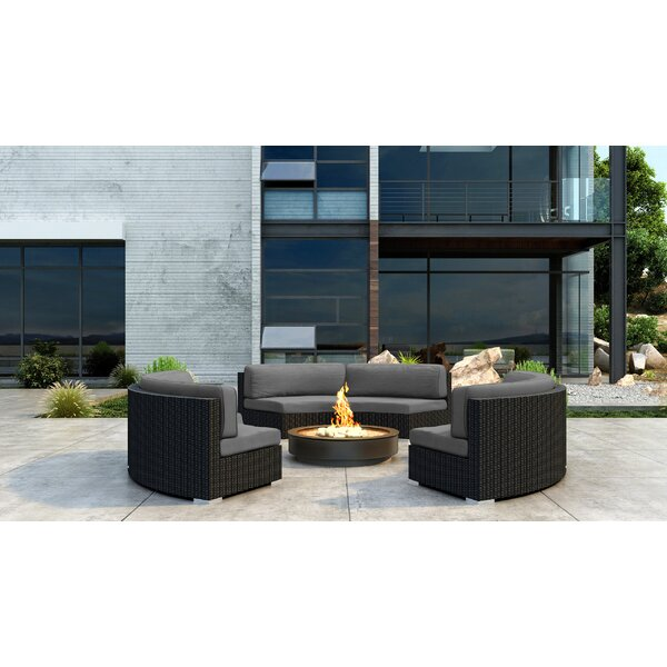 Glendale 3 Piece Sectional Seating Group with Sunbrella Cushion by Everly Quinn