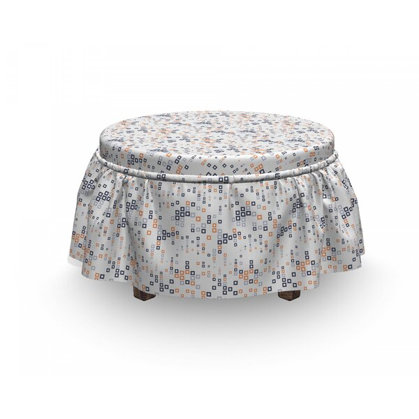 Square Composition Ottoman Slipcover (Set Of 2) By East Urban Home