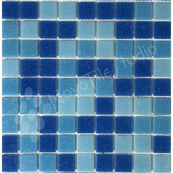 Liguria 0.8 x 0.8 Glass Mosaic Tile in Blue by NovoTileStudio