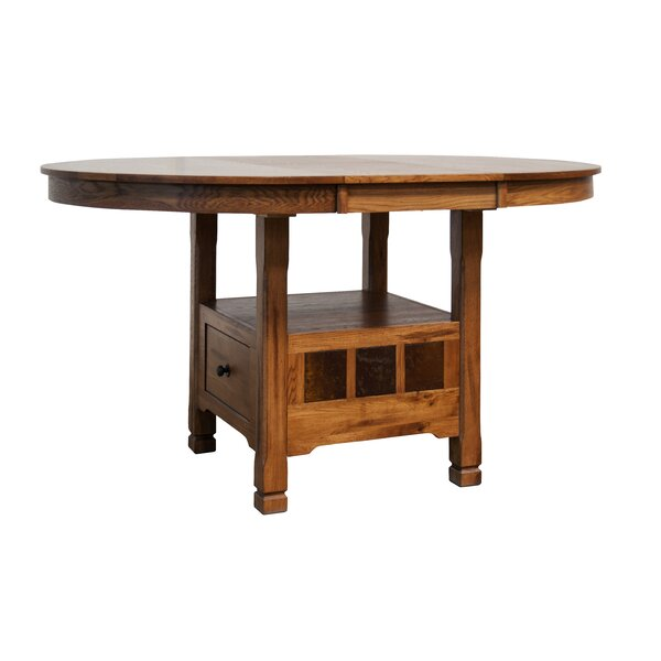 Fresno Solid Wood Extendable Dining Table by Loon Peak