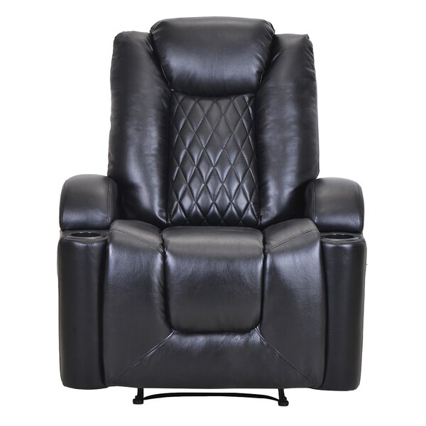 Safflower Faux Leather Power Rocker Recliner W003408937