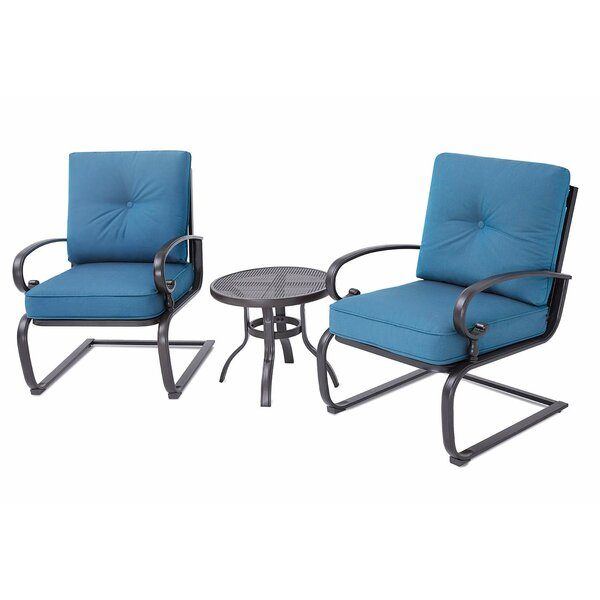 Park Slope 3 Piece Seating Group with Cushions by Highland Dunes