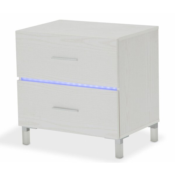 Lumiere 2 Drawer Nightstand by Michael Amini