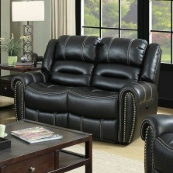 Dorris Leather Reclining Loveseat by Darby Home Co