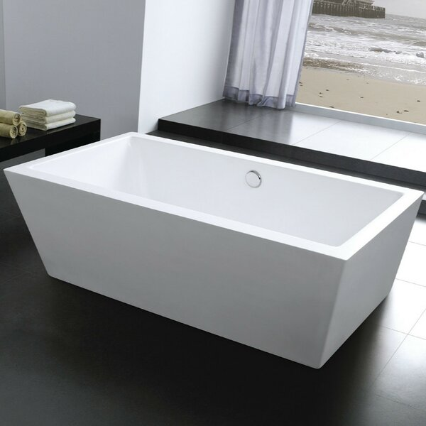Squadra 67 x 33 Freestanding Soaking Bathtub by Morenobath