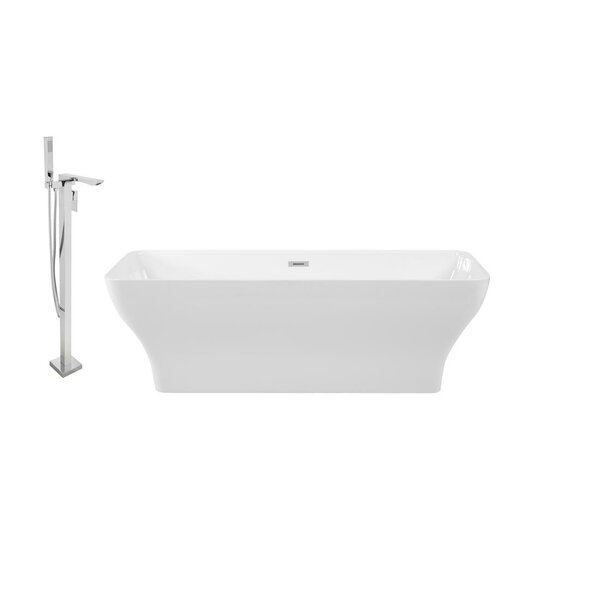 67 x 28 Freestanding Soaking Bathtub by Streamline Bath