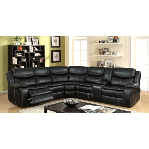 Home & Outdoor Lafever Symmetrical Reclining Sectional