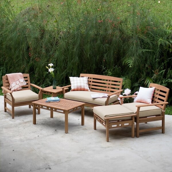Doring Teak Patio Chair with Cushions (Set of 2) by Gracie Oaks