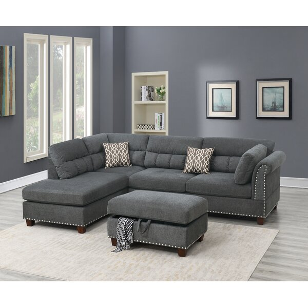 Flinchum Reversible Sectional With Ottoman By Winston Porter