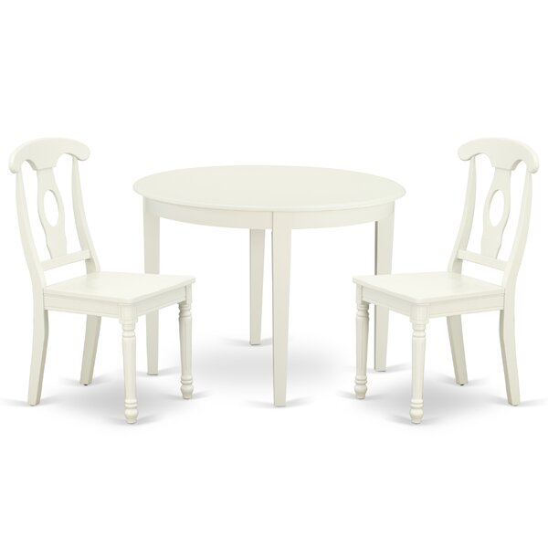 Krahn 3 Piece Solid Wood Breakfast Nook Dining Set by August Grove