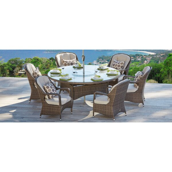 Dewberry 7 Piece Dining Set with Cushion by Darby Home Co