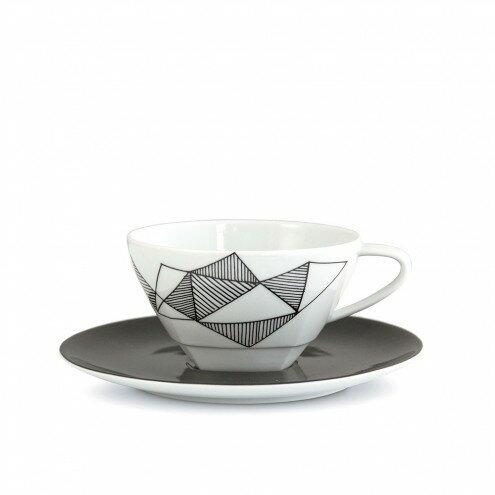 Natick Porcelain Teacup and Saucer Set (Set of 4) by George Oliver