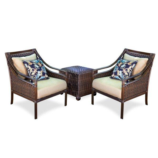Atlantic Woven 3 Piece Sunbrella with Cushions by Peak Season Inc.