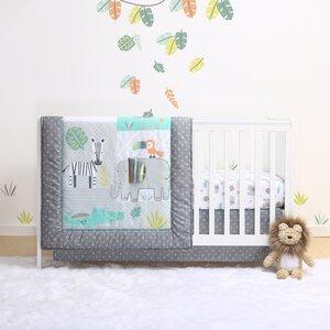 Safari 4 Piece Crib Bedding Set