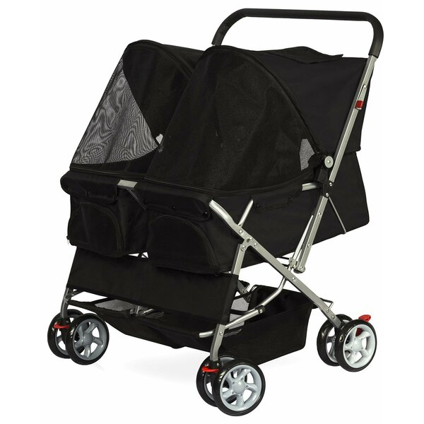 Double Side Foldable Standard Pet Stroller by OxGord