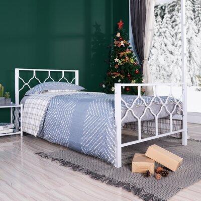 Kaskaskia Platform Bed Red Barrel Studio? Color: White, Size: Twin