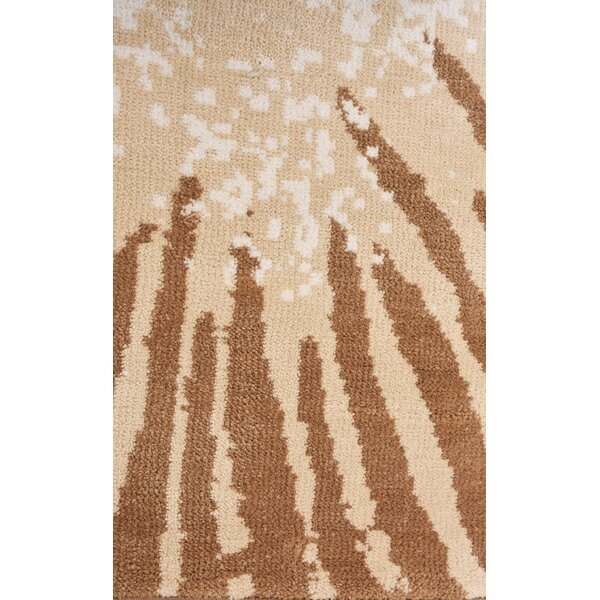 Mariani Modern Brown/Beige Area Rug by Ivy Bronx