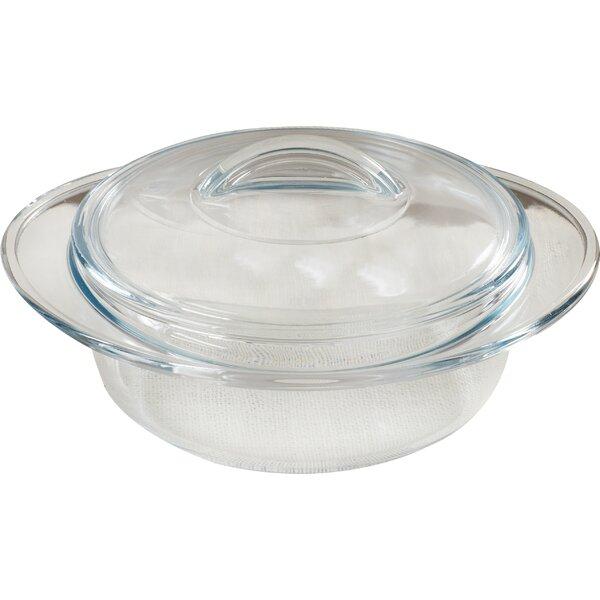 Borcam 1.6-qt. Round Casserole by Circle Glass