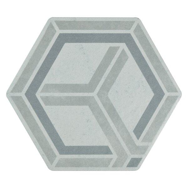 Hara Hex 5.88 x 6.75 Porcelain Field Tile in Geo by EliteTile