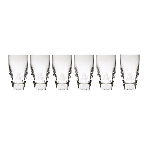 Diamonte 12 oz. Crystal Highball Glass (Set of 6) by Lorren Home Trends