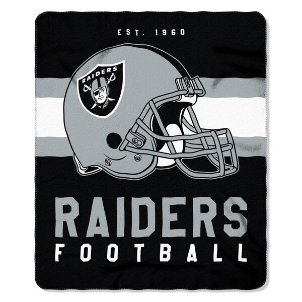 NFL Oakland Raiders Printed Fleece Throw by Northwest