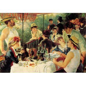 Luncheon of the Boating Party by Pierre Renoir Painting Print on Wrapped Canvas by Trademark Fine Art