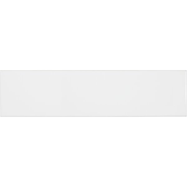 Sail 4 x 16 Ceramic/Porcelain Tile in Matte White by Parvatile