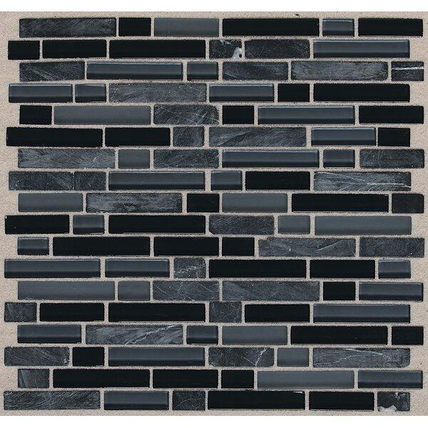 Treasure 12 x 13 Glass Gem Mosaic Tile in Black Cloud by Mohawk Flooring