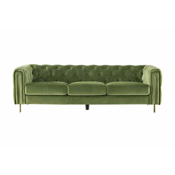 Acanva Vintage Tufted Velvet Chesterfield Sofa by Everly Quinn