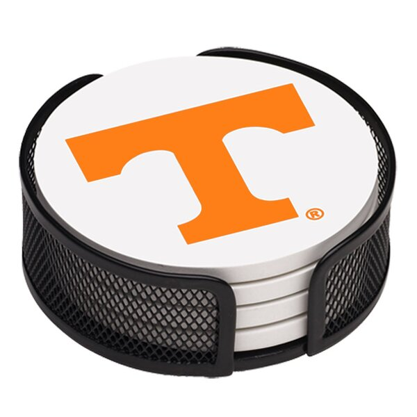5 Piece University of Tennessee Collegiate Coaster Gift Set by Thirstystone