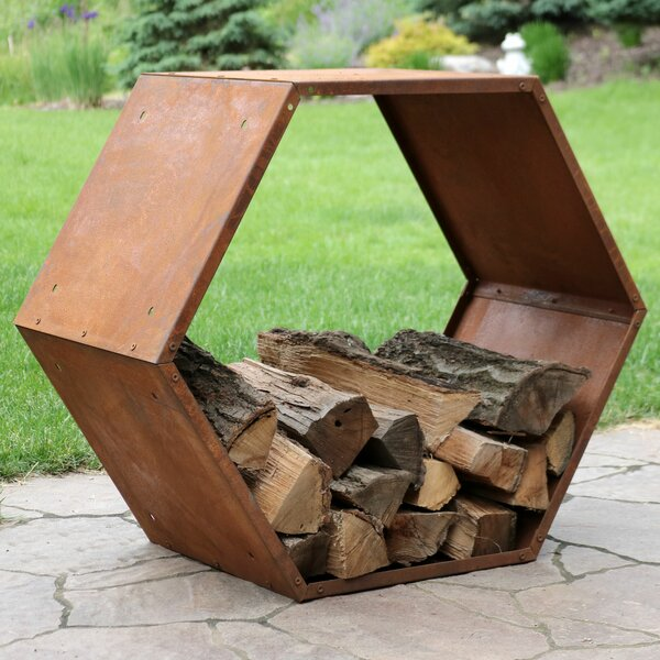 Heavy Duty Hexagon Rustic Honeycomb Log Rack by Wildon Home ®