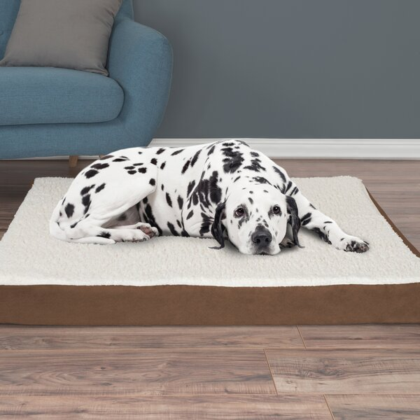 Orthopedic Sherpa Memory Foam Dog Mat by Petmaker