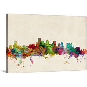 'Boston Skyline' by Michael Tompsett Graphic Art on Wrapped Canvas by Great Big Canvas