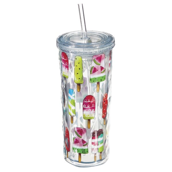 Frint and Walt 16 oz. Plastic Travel Tumbler by Latitude Run