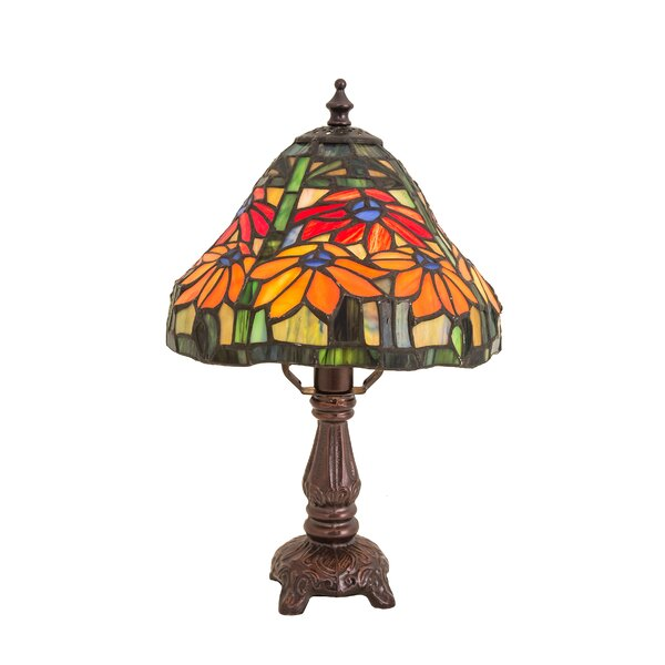 Tiffany Floral Nouveau Holiday Poinsettia Mini Table Lamp by Meyda Tiffany