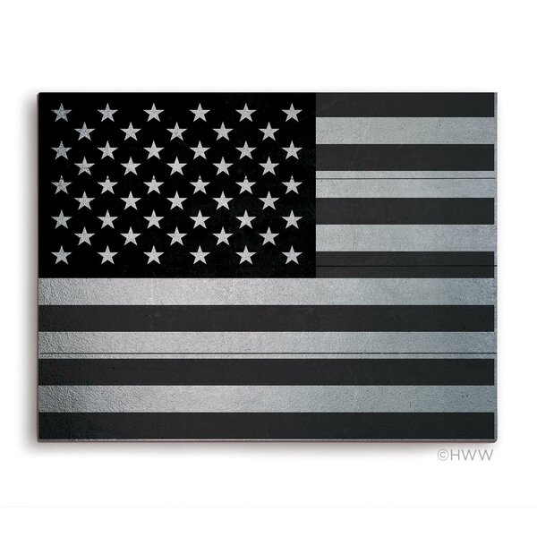 Vintage American Flag Graphic Art Plaque by Click Wall Art
