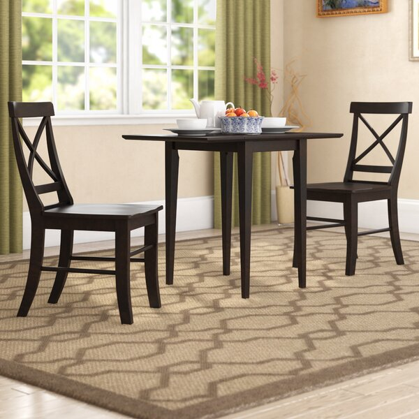 Colwell 3 Piece Drop Leaf Solid Wood Dining Set by Winston Porter Winston Porter