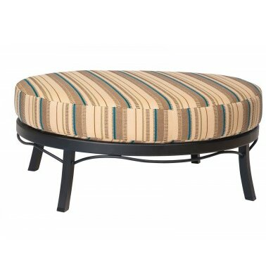 Cortland Ottoman with Cushion by Woodard